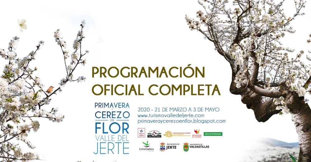 PROGRAMA OFICIAL PRIMAVERA Y CEREZO EN FLOR 2020 VALLE DEL JERTE 21 DE MARZO A 3 DE MAYO